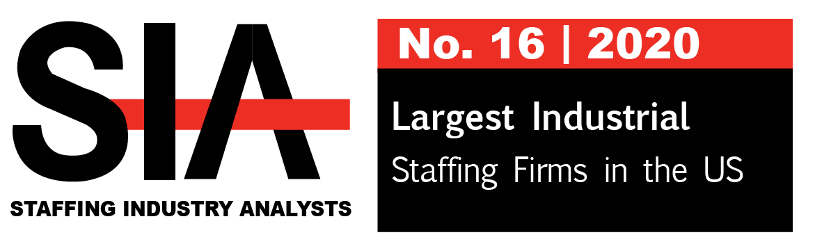 Partners Personnel, No. 16 - SIA | Staffing Industry Analyst | 2020 Largest Industrial Staffing Firms in the US